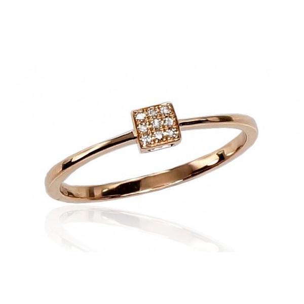 """Zelta gredzens ar briljantu """"Solitaire VI"""" no 585 proves sarkanā zelta"""