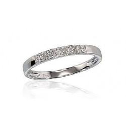 """Zelta gredzens ar briljantiem """"Zelta Mīlestība XI"""" no 585 proves baltā zelta"""
