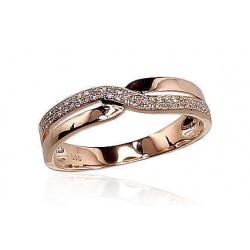 """Zelta gredzens ar briljantiem """"Džoanna V"""" no 585 proves sarkanā zelta"""