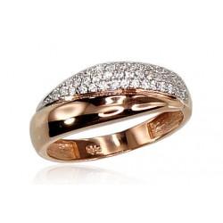 """Zelta gredzens """"Romana II"""" no 585 proves sarkanā zelta"""