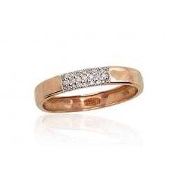 """Zelta gredzens ar briljantiem """"Mīlestības Noslēpums"""" no 585 proves sarkanā zelta"""