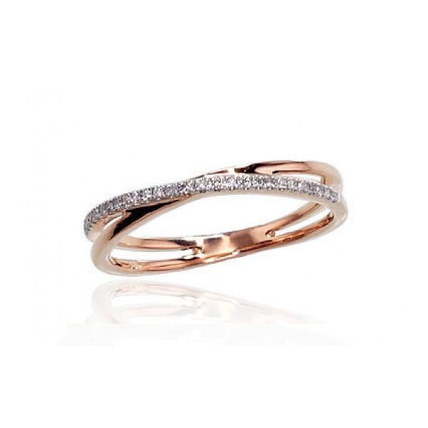 """Zelta gredzens ar briljantiem """"Džoanna VII"""" no 585 proves sarkanā zelta"""