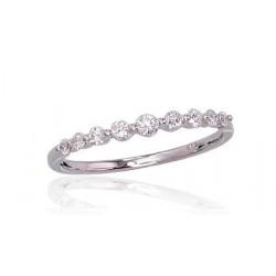 "Zelta gredzens ar briljantiem ""Zelta Mīlestība VII"" no 585 proves baltā zelta"