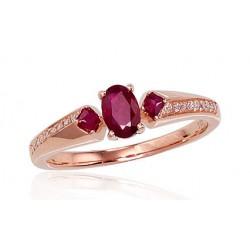 "Zelta gredzens ar briljantiem ""Misa"" no 585 proves sarkanā zelta"