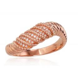 "Zelta gredzens ar briljantiem ""Averons II"" no 585 proves sarkanā zelta"