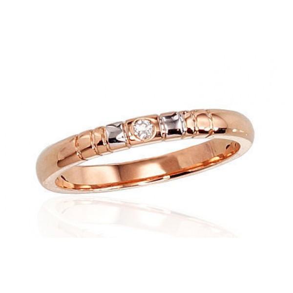 """Zelta gredzens ar briljantiem """"Tokija VII"""" no 585 proves sarkanā zelta"""