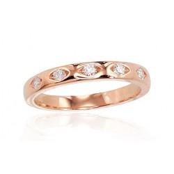"Zelta gredzens ar briljantiem ""Tokija V"" no 585 proves sarkanā zelta"