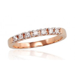 """Zelta gredzens ar briljantiem """"Zelta Mīlestība"""" no 585 proves sarkanā zelta"""