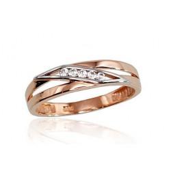 """Zelta gredzens """"Alpīna X"""" no 585 proves sarkanā zelta"""