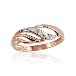 """Zelta gredzens """"Alpīna II"""" no 585 proves sarkanā zelta"""