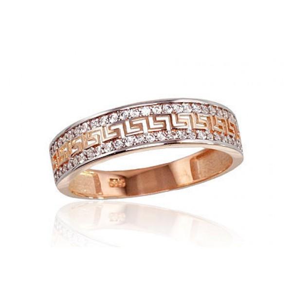 """Zelta gredzens """"Grieķu Motīvi II"""" no 585 proves sarkanā zelta"""