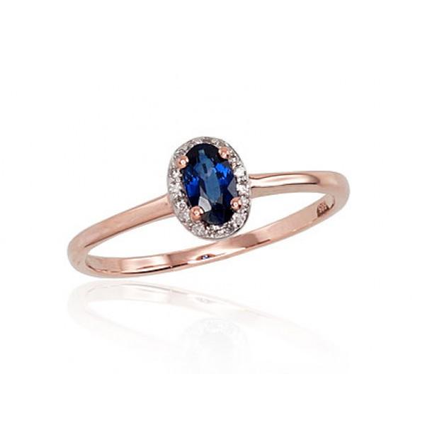 """Zelta gredzens ar briljantiem """"Izsmālcinātība IV"""" no 585 proves sarkanā zelta"""