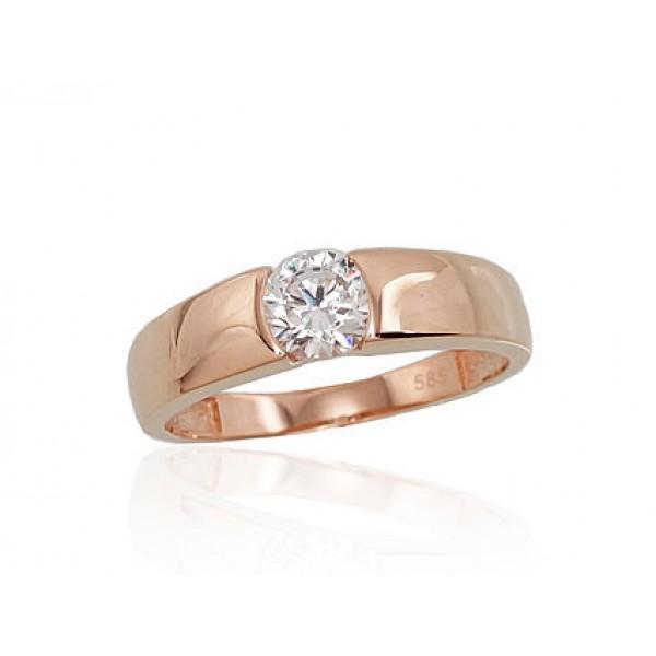 """Zelta gredzens """"Jaunā Klasika VIII"""" no 585 proves sarkanā zelta"""