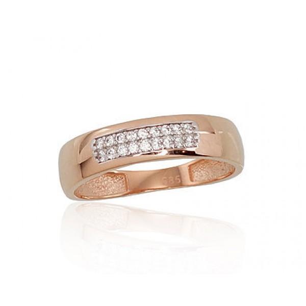 """Zelta gredzens """"Tokija VII"""" no 585 proves sarkanā zelta"""
