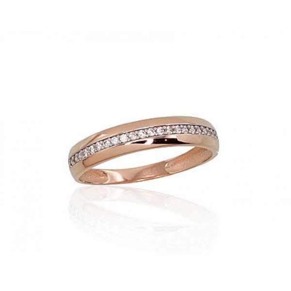 """Zelta gredzens """"Tokija VI"""" no 585 proves sarkanā zelta"""