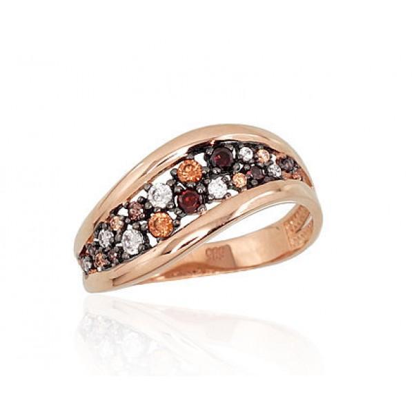 """Zelta gredzens """"Mozaīka"""" no 585 proves sarkanā zelta"""