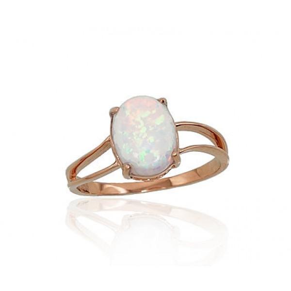 """Zelta gredzens ar opalītu """"Kailija"""" no 585 proves sarkanā zelta"""