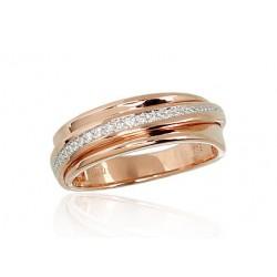 """Zelta gredzens ar briljantiem """"Ilifia"""" no 585 proves sarkanā zelta"""