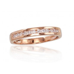 """Zelta gredzens ar briljantiem """"Tokija IX"""" no 585 proves sarkanā zelta"""