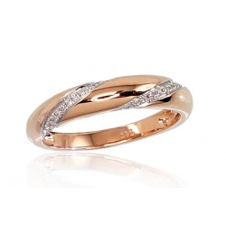 "Zelta gredzens ar briljantiem ""Averons IV"" no 585 proves sarkanā zelta"