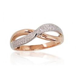 """Zelta gredzens ar briljantiem """"Džoanna VIII"""" no 585 proves sarkanā zelta"""