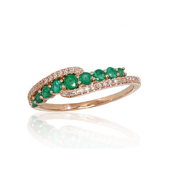 """Zelta gredzens ar briljantiem """"Kamēlija VII"""" no 585 proves sarkanā zelta"""