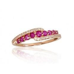 """Zelta gredzens ar briljantiem """"Kamēlija VIII"""" no 585 proves sarkanā zelta"""