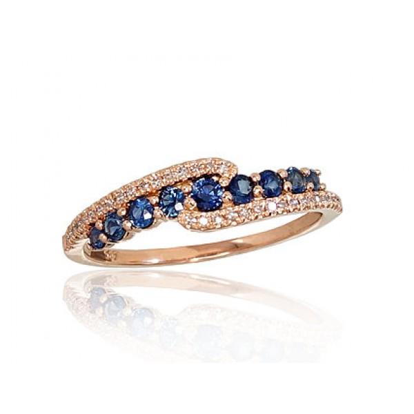 """Zelta gredzens ar briljantiem """"Kamēlija IX"""" no 585 proves sarkanā zelta"""