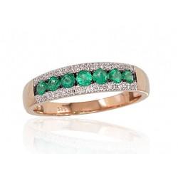 """Zelta gredzens ar briljantiem """"Kamēlija V"""" no 585 proves sarkanā zelta"""
