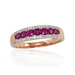 """Zelta gredzens ar briljantiem """"Kamēlija VI"""" no 585 proves sarkanā zelta"""