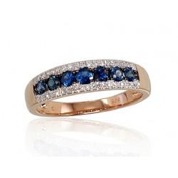 """Zelta gredzens ar briljantiem """"Kamēlija IV"""" no 585 proves sarkanā zelta"""