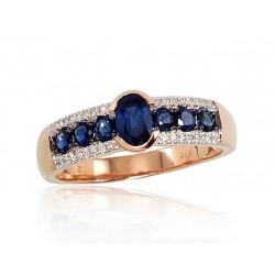 """Zelta gredzens ar briljantiem """"Mūžība"""" no 585 proves sarkanā zelta"""