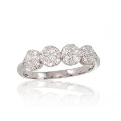 """Zelta gredzens ar briljantiem """"Džoanna"""" no 585 proves baltā zelta"""