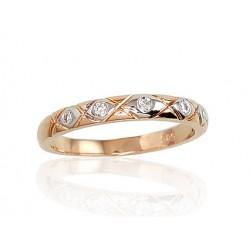"""Zelta gredzens ar briljantiem """"Tokija VIII"""" no 585 proves sarkanā zelta"""