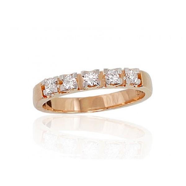 """Zelta gredzens ar briljantiem """"Zelta Mīlestība IV"""" no 585 proves sarkanā zelta"""