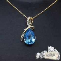 "Kulons ""Lagūna II (Aquamarine Blue)"" ar Swarovski™ kristāliem"