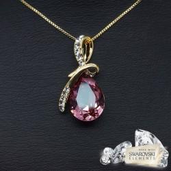 """Kulons """"Lagūna II (Antique Pink)"""" ar Swarovski™ kristāliem"""