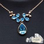 "Kulons ""Debesu Magija (Aquamarine Blue)"" ar Swarovski™ kristāliem"