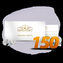 Diamond Sky dāvanu karte 150 eiro vērtībā