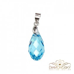 "Kulons ""Baroka II (Aquamarine Blue)"" ar Swarovski™ kristāliem"