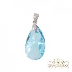 "Kulons ""Baroka (Aquamarine Blue)"" ar Swarovski™ kristāliem"
