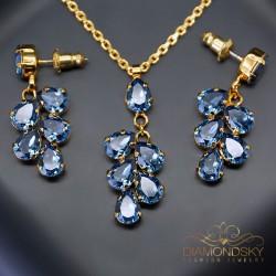 "Komplekts ""Amber II (Denim Blue)"" ar Swarovski™ kristāliem"