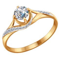 Zelta gredzeni ar briljantiem