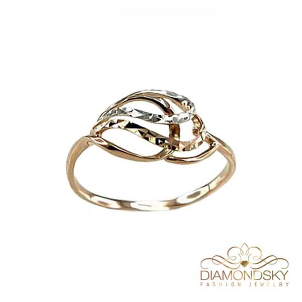 """Zelta gredzens """"Jaunā Klasika IV"""" no 585 proves sarkanā zelta"""