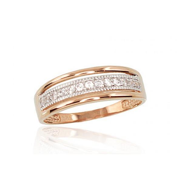 """Zelta gredzens """"Tokija"""" no 585 proves sarkanā zelta"""