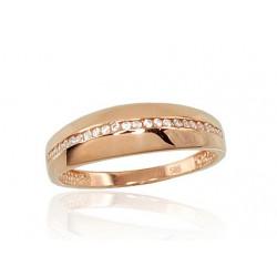 """Zelta gredzens """"Tokija II"""" no 585 proves sarkanā zelta"""