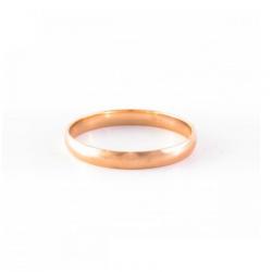 """Zelta laulības gredzens """"Harmonija XII"""" no 585 proves sarkanā zelta"""