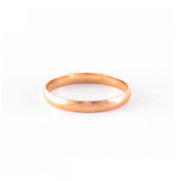 """Zelta laulības gredzens """"Harmonija X"""" no 585 proves sarkanā zelta"""