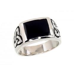 """Vīriešu sudraba gredzens """"Onikss XIV"""" no 925 proves sudraba"""