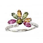 """Sudraba gredzens """"Kristāla Zieds II"""" no 925 proves sudraba"""